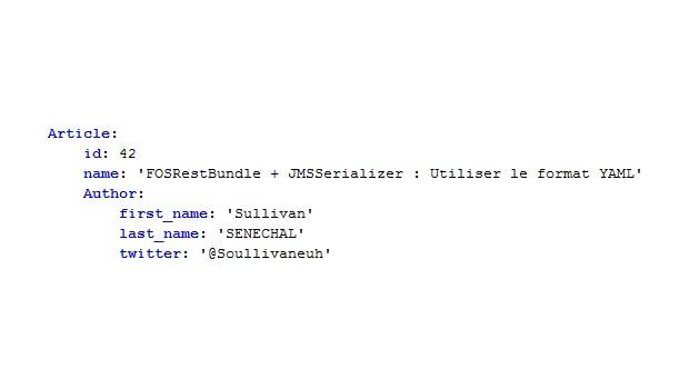 Vous voulez faire une superbe api mais vous trouvez que l'XML et le JSON c'est trop has-been ? Que vous valez mieux que ça ?Vous trouvez que le YAML c'est...